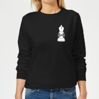 Faithful Pocket Print Women's Sweatshirt - Black - XXL - Black