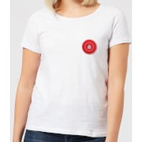 Red Checker Pocket Print Women's T-Shirt - White - S - White