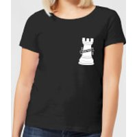 Hold Fast Pocket Print Women's T-Shirt - Black - L - Black