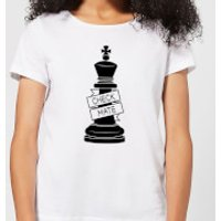King Chess Piece Check Mate Women's T-Shirt - White - S - White