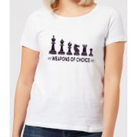 Weapons Of Choice Women's T-Shirt - White - 5XL - White - Weapons Gifts