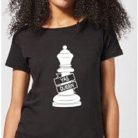 Queen Chess Piece Yas Queen Women's T-Shirt - Black - L - Black