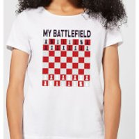 My Battlefield Chess Board Red & White Women's T-Shirt - White - L - White