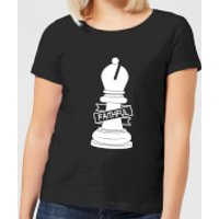 Bishop Chess Piece Faithful Women's T-Shirt - Black - XXL - Black - Chess Gifts