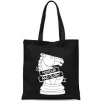 Knight Chess Piece Tote Bag - Black - Chess Gifts