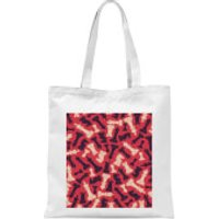 Chess Piece Pattern Tote Bag - White - Chess Gifts