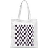 Chess Board Repeat Pattern Monochrome Tote Bag - White - Chess Gifts