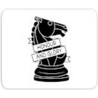 Knight Chess Piece Honour And Glory Mouse Mat - Chess Gifts