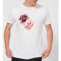 Pink Flowers Men's T-Shirt - White - XL - White