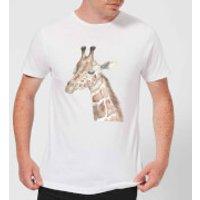 Watercolour Giraffe Men's T-Shirt - White - XXL - White - Giraffe Gifts