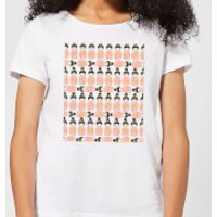 Orange Geisha Block Print Women's T-Shirt - White - L - White