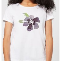 Purple Flower 1 Women's T-Shirt - White - XS - White