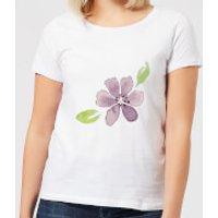 Purple Flower 2 Women's T-Shirt - White - XXL - White