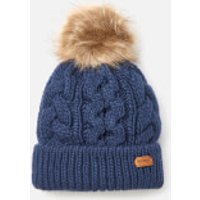 Barbour Womens Penshaw Cable Beanie - Navy