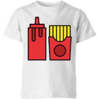 Cooking Ketchup And Fries Kids' T-Shirt - 7-8 Years - White