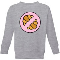 Cooking Croissants Kids' Sweatshirt - 3-4 Years - Grey