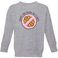 Cooking Sorry For Being So Flakey Kids' Sweatshirt - 11-12 Years - Grey