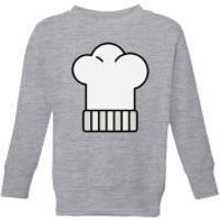 Cooking Chefs Hat Kids' Sweatshirt - 9-10 Years - Grey