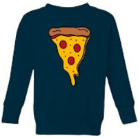 Cooking Pizza Slice Kids' Sweatshirt - 5-6 Years - Navy