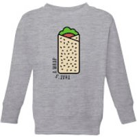 Cooking Thats A Wrap Kids Sweatshirt - 9-10 Years - Grey