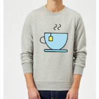 Cooking Cup Of Tea Sweatshirt - XL - Grey