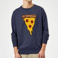 Cooking Pizza Slice Sweatshirt - S - Navy