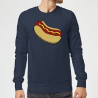 Cooking Hot Dog Sweatshirt - M - Navy