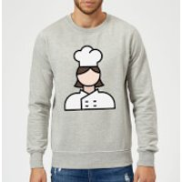 Cooking Cook Sweatshirt - XXL - Grey - Cook Gifts