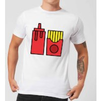 Cooking Ketchup And Fries Men's T-Shirt - XS - White