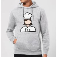 Cooking Cook Hoodie - M - Grey - Cook Gifts