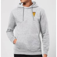 Cooking Small Pizza Slice Hoodie - M - Grey