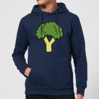 Cooking Broccoli Hoodie - XL - Navy