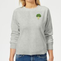 Cooking Small Broccoli Women's Sweatshirt - L - Grey