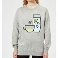 Cooking Cup Of Tea And Water Women's Sweatshirt - S - Grey