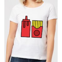 Cooking Ketchup And Fries Women's T-Shirt - L - White