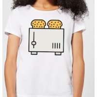 Cooking Toast In The Toaster Women's T-Shirt - XL - White