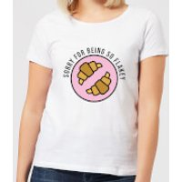 Cooking Sorry For Being So Flakey Women's T-Shirt - S - White