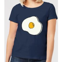 Cooking Fried Egg Women's T-Shirt - XL - Navy