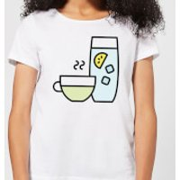 Cooking Cup Of Tea And Water Women's T-Shirt - L - White