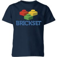 Brickset Logo Kids' T-Shirt - Navy - 11-12 Years - Navy