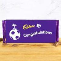 Cadbury Bar 360g - Football - Congratulations