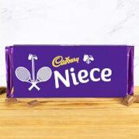 Cadbury Bar 360g - Tennis Racket - Niece - Niece Gifts