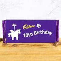 Cadbury Bar 360g - Unicorn - 18th Birthday
