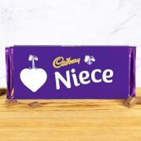 Cadbury Bar 360g - Heart - Niece - Niece Gifts