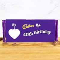 Cadbury Bar 360g - Heart - 40th Birthday