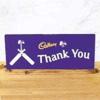Cadbury Bar 850g - Cricket Bat - Thank You - Cricket Gifts