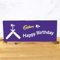 Cadbury Bar 850g - Cricket Bat - Happy Birthday - Cricket Gifts