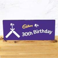 Cadbury Bar 850g - Cricket Bat - 30th Birthday - Cricket Gifts