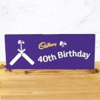 Cadbury Bar 850g - Cricket Bat - 40th Birthday - Cricket Gifts