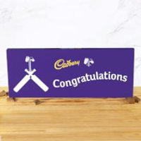 Cadbury Bar 850g - Cricket Bat - Congratulations - Cricket Gifts